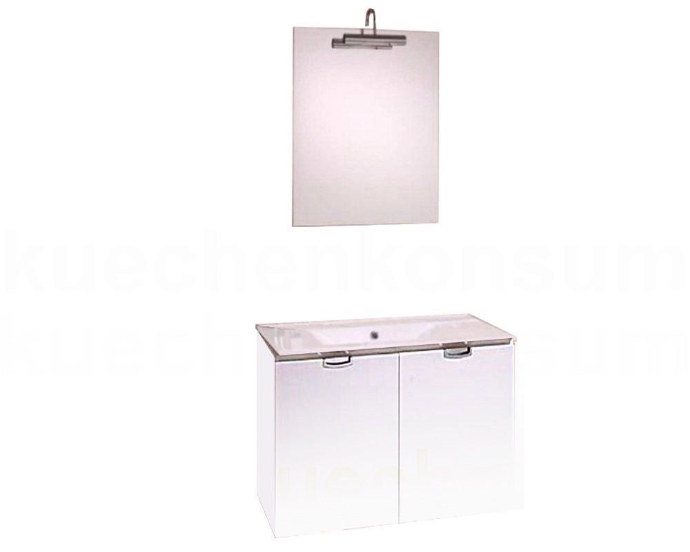 badm bel unterschrank waschbecken spiegel leuchte. Black Bedroom Furniture Sets. Home Design Ideas