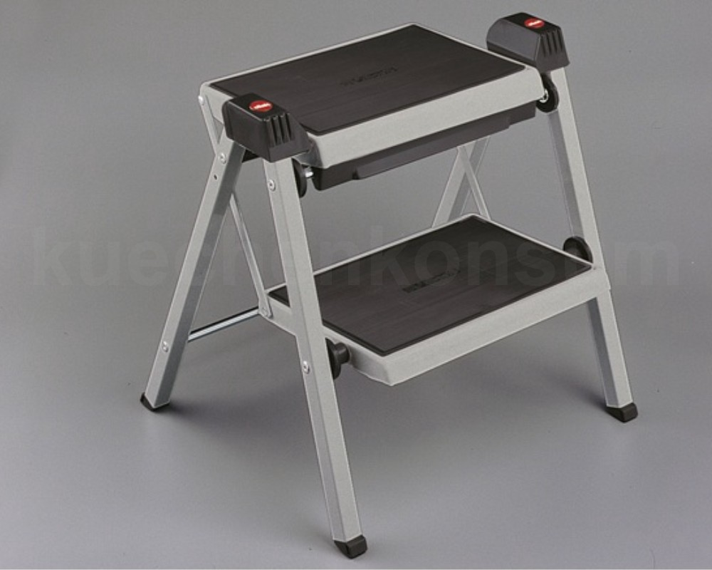 hailo step fix leiter steighilfe trittleiter klappbar 2 stufig klapptritt tritt ebay. Black Bedroom Furniture Sets. Home Design Ideas