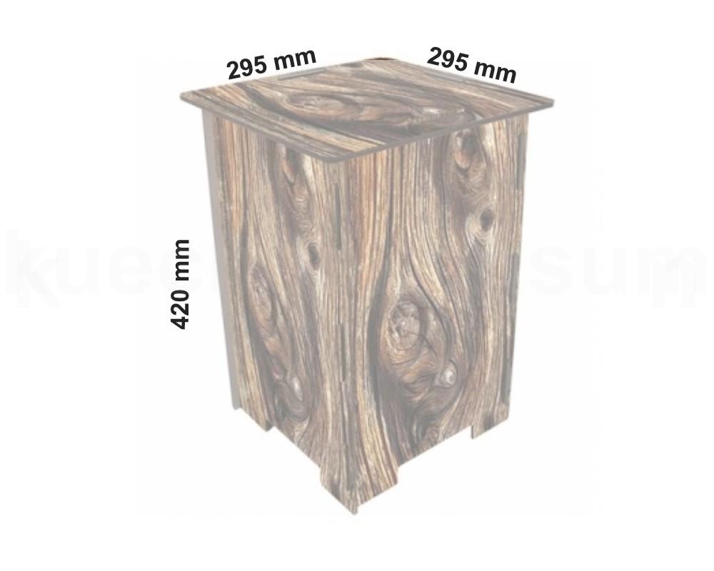 Werkhaus photohocker holz beistelltisch tritt for Holzklotz als beistelltisch