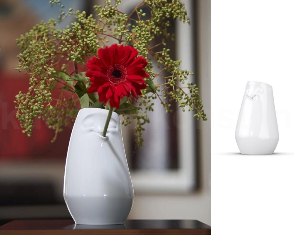 tasse vase gesicht entspannt wei lustige blumenvase fiftyeight porzellanvase ebay. Black Bedroom Furniture Sets. Home Design Ideas
