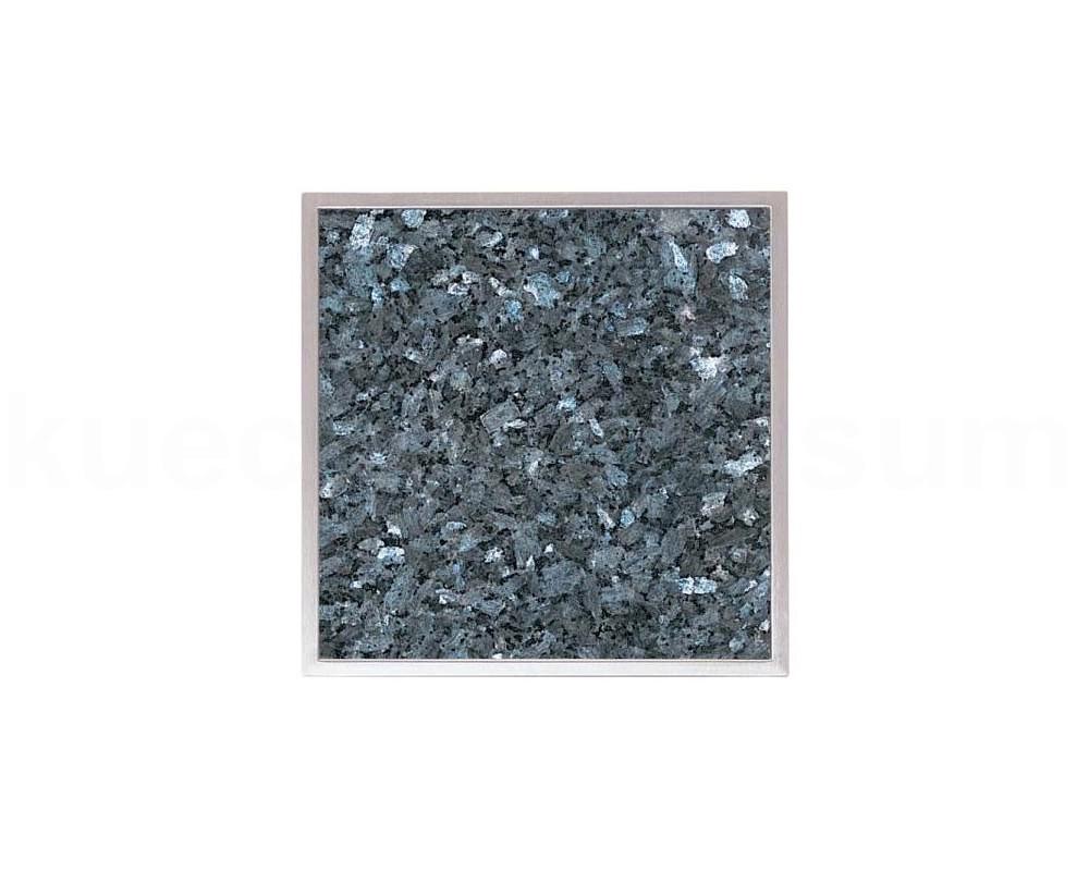 granitfeld einbau edelstahlwanne blue pearl 250 x 250mm granitplatte granitstein ebay. Black Bedroom Furniture Sets. Home Design Ideas