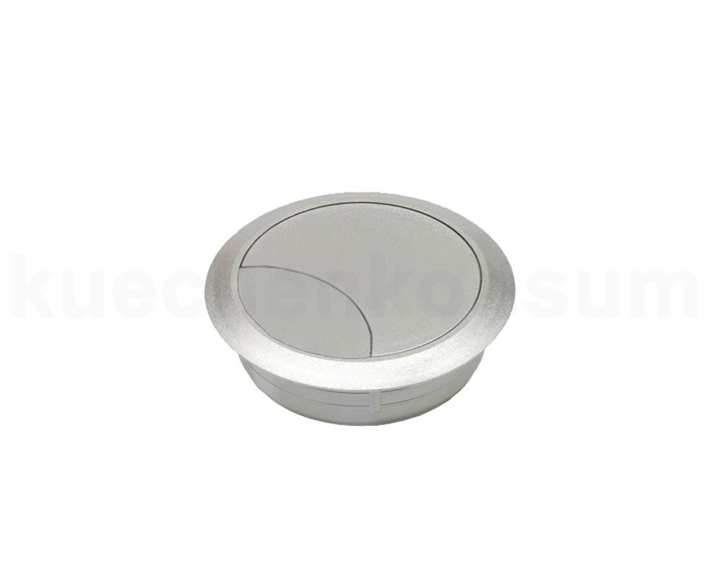 kabeldurchlass 80 mm nickel silber kabeldurchf hrung kabelzuf hrung kabelkanal ebay. Black Bedroom Furniture Sets. Home Design Ideas