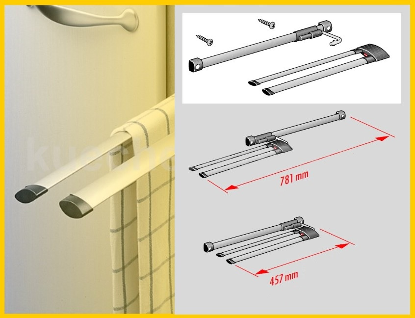 hailo secco alu line handtuchhalter handtuchauszug aluminium 3 er handtuchstange ebay. Black Bedroom Furniture Sets. Home Design Ideas
