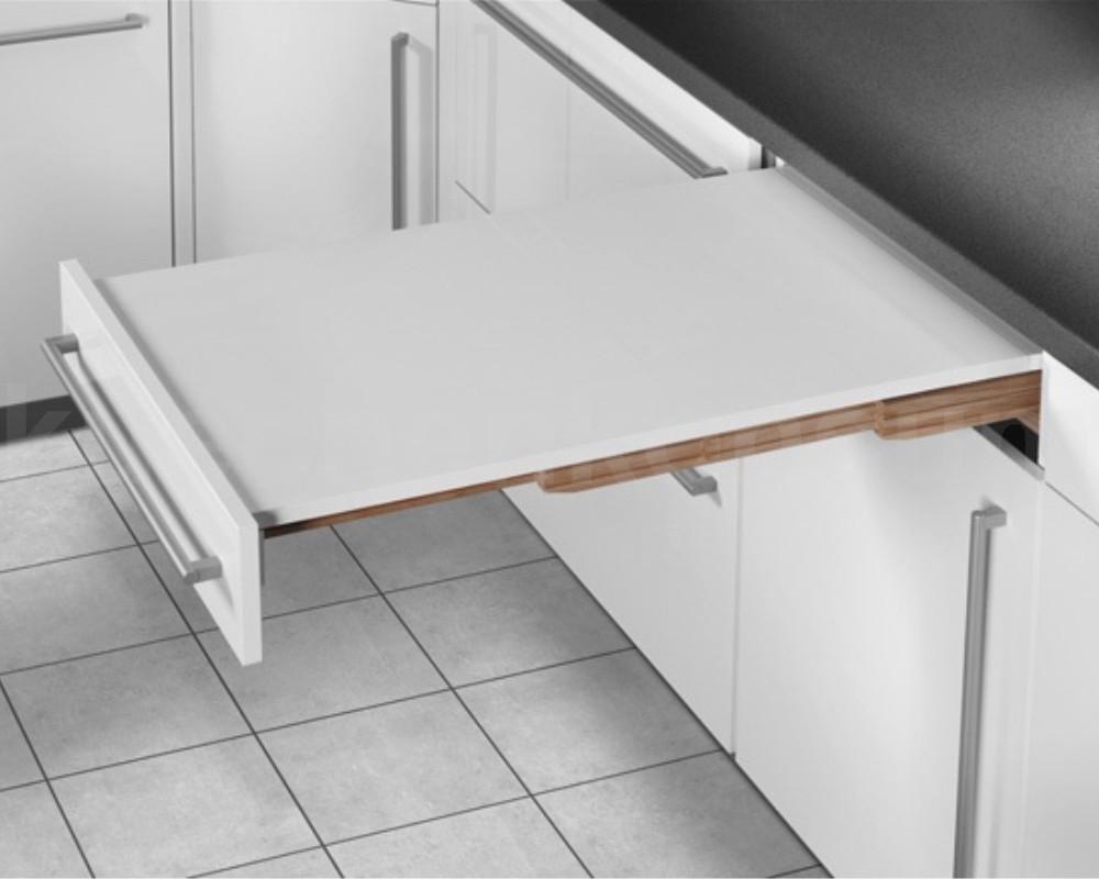 Hailo Rapid 60 Ausziehtisch stufenlos Küchentisch Schubkastenauszug Auszugtisch.