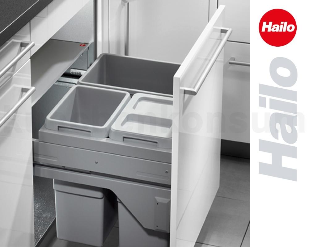 Details zu Hailo Abfallsammler Euro-Cargo-S CS Slide 15.15/15 Abfalleimer  Mülleimer Auszug