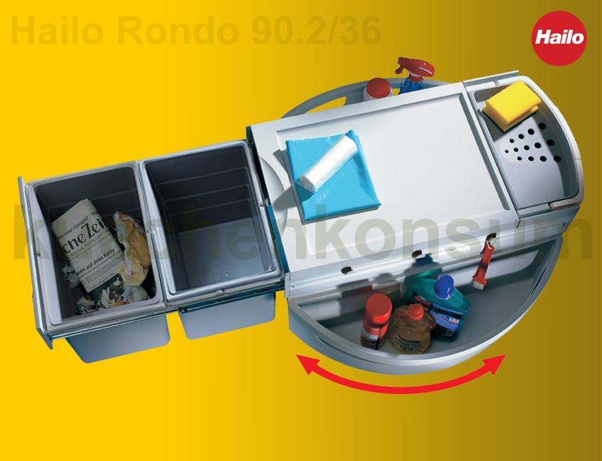 Möbel & Wohnen Haushalt Hailo Rondo Eckabfallsammler 3645 12