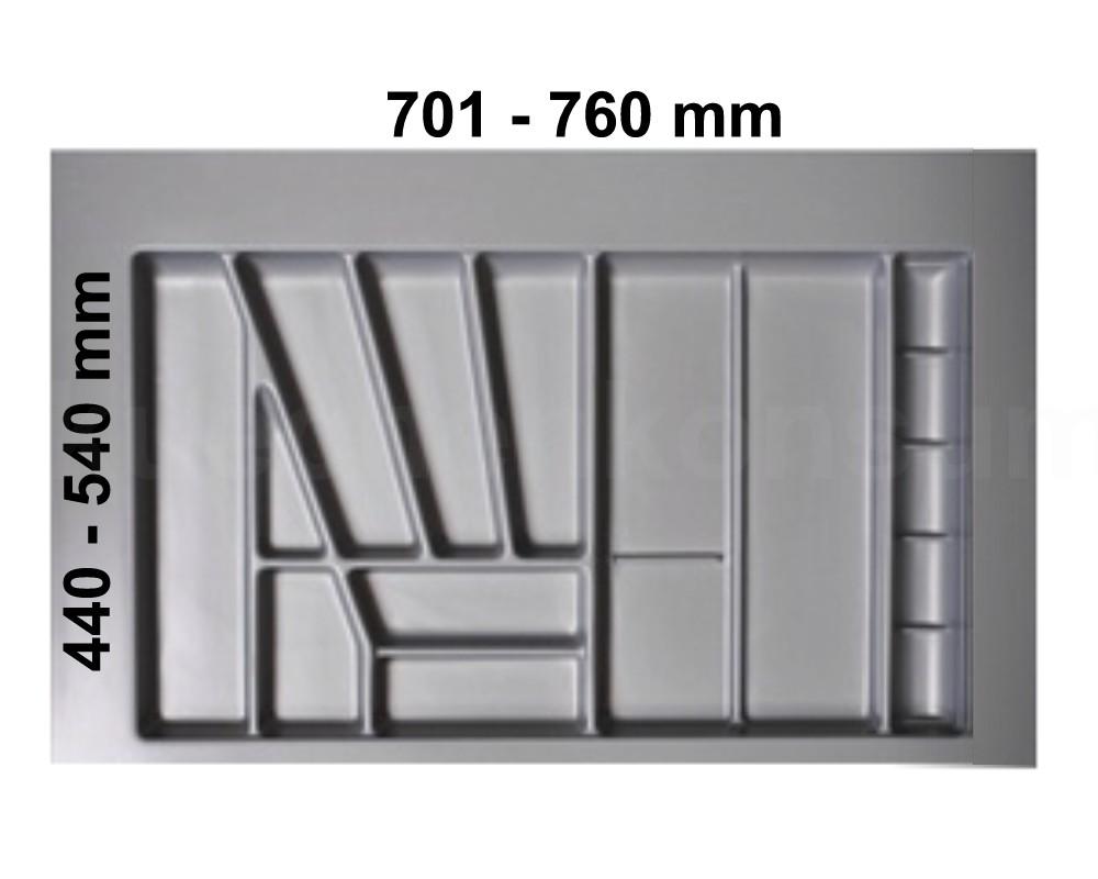 besteckeinsatz silbergrau 80 besteckkasten besteckeinteilung besteckunterteilung ebay. Black Bedroom Furniture Sets. Home Design Ideas