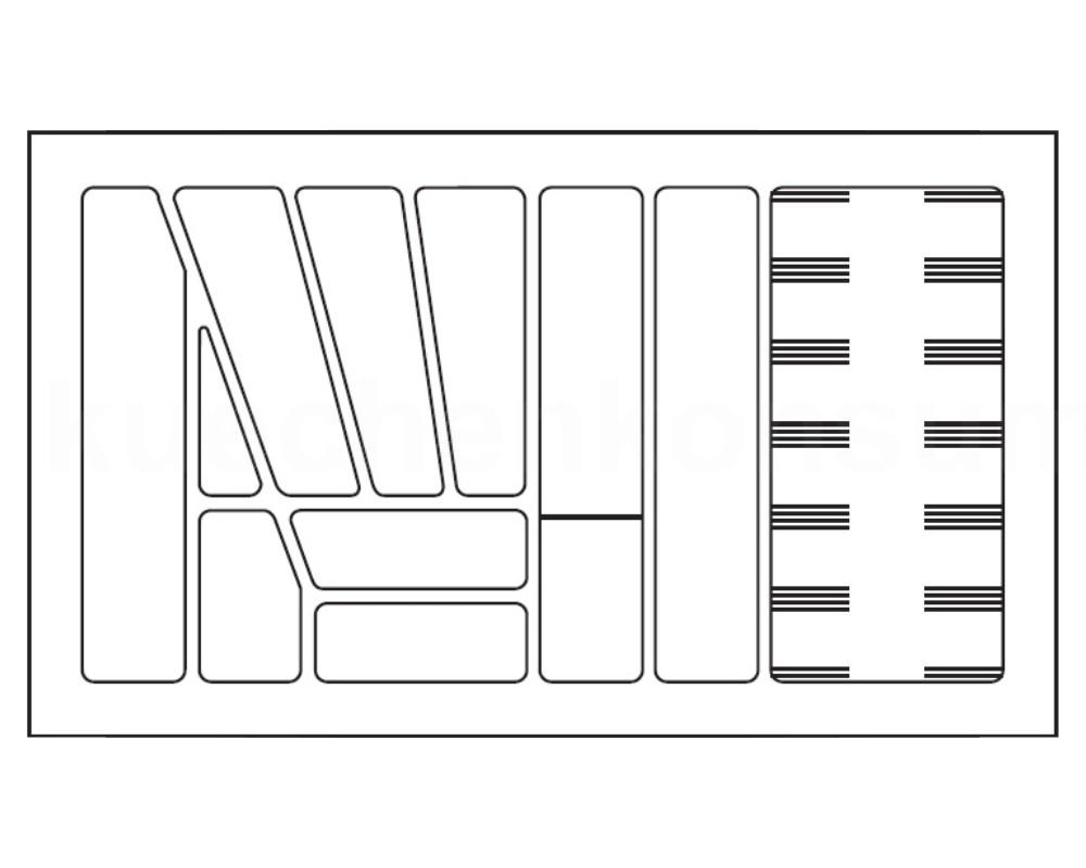 besteckeinsatz grau 100 cm besteckkasten besteckeinteilung besteckunterteilung ebay. Black Bedroom Furniture Sets. Home Design Ideas