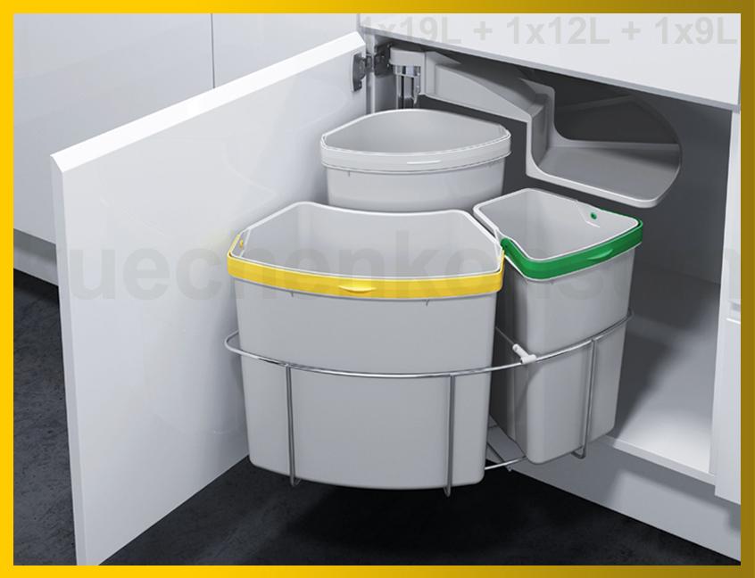 Abfallcenter Schwenkeimer 18L Mülleimer Einbau Abfalleimer Abfallsammler