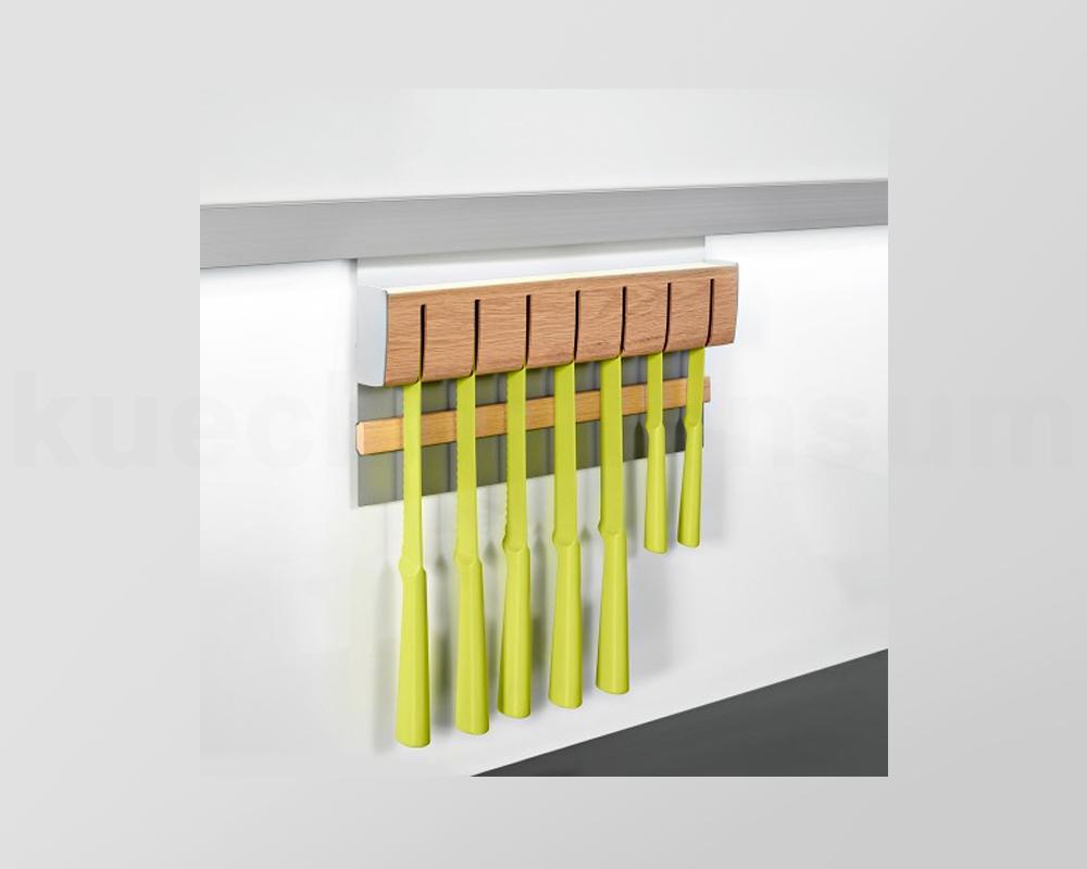 linero mosaiq magnet messerhalter holz edelstahlfarbig messer halter kesseb hmer ebay. Black Bedroom Furniture Sets. Home Design Ideas