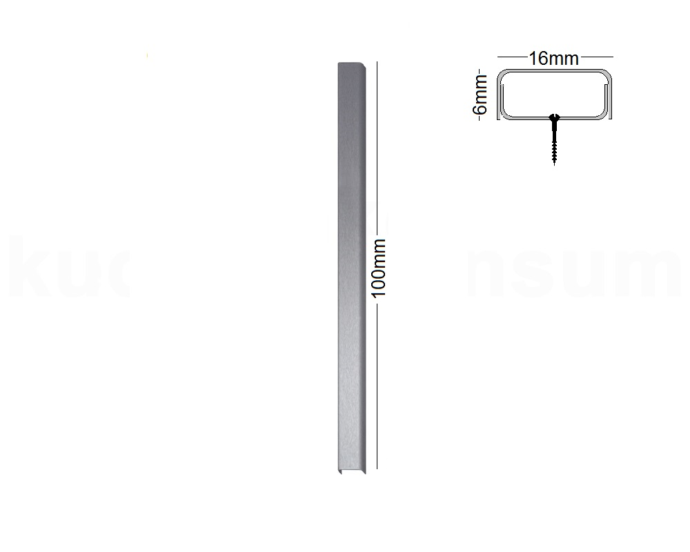 Kabelabdeckung Edelstahl Kabelschacht 16 x 6 mm Kabelführung eckig ...