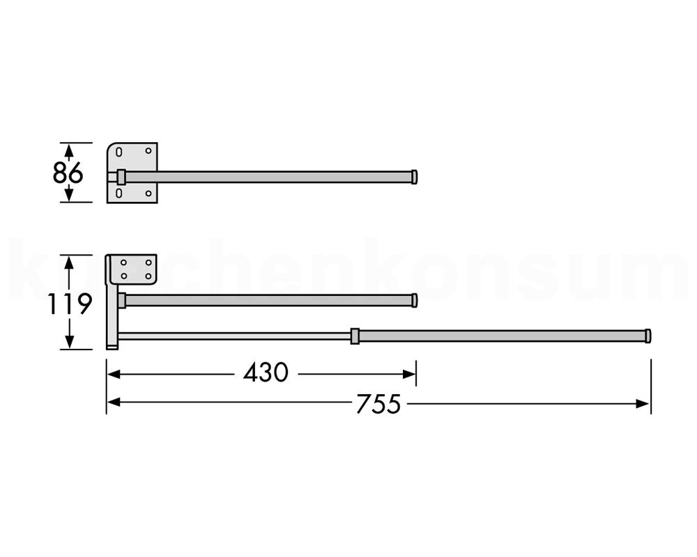 hailo secco handtuchhalter 2armig handtuchhalter handtuchstange handtuchtrockner ebay. Black Bedroom Furniture Sets. Home Design Ideas