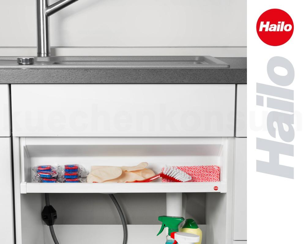hailo deposito light regalfach staufach unterschrank einbau ablage korb bord ws ebay. Black Bedroom Furniture Sets. Home Design Ideas