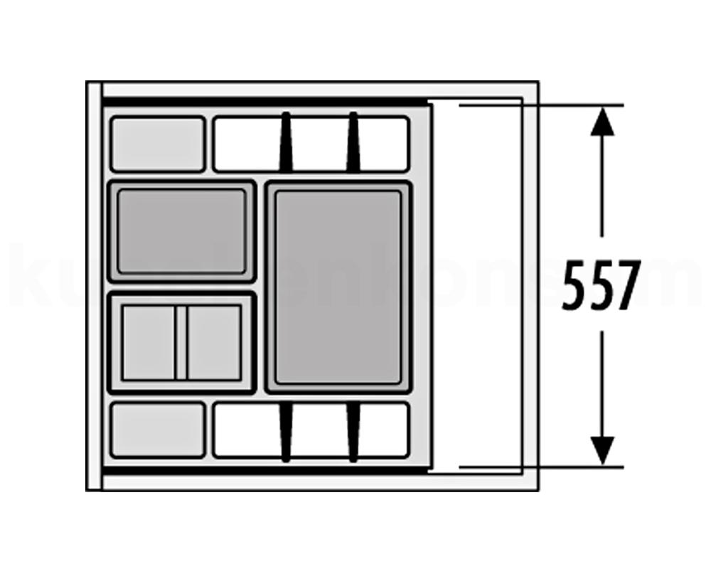 hailo abfallsammler xs inset 60 3 34 separato k m lleimer einsatz f 60 cm auszug ebay. Black Bedroom Furniture Sets. Home Design Ideas