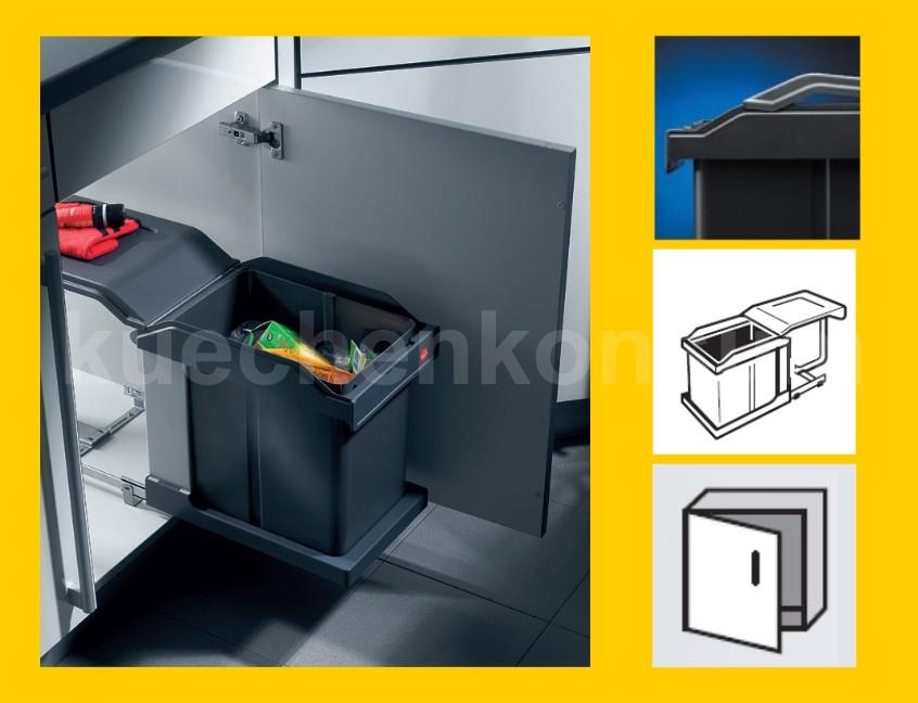 hailo solo ms swing 30 1 20 poubelle simple int gr e 20 l. Black Bedroom Furniture Sets. Home Design Ideas