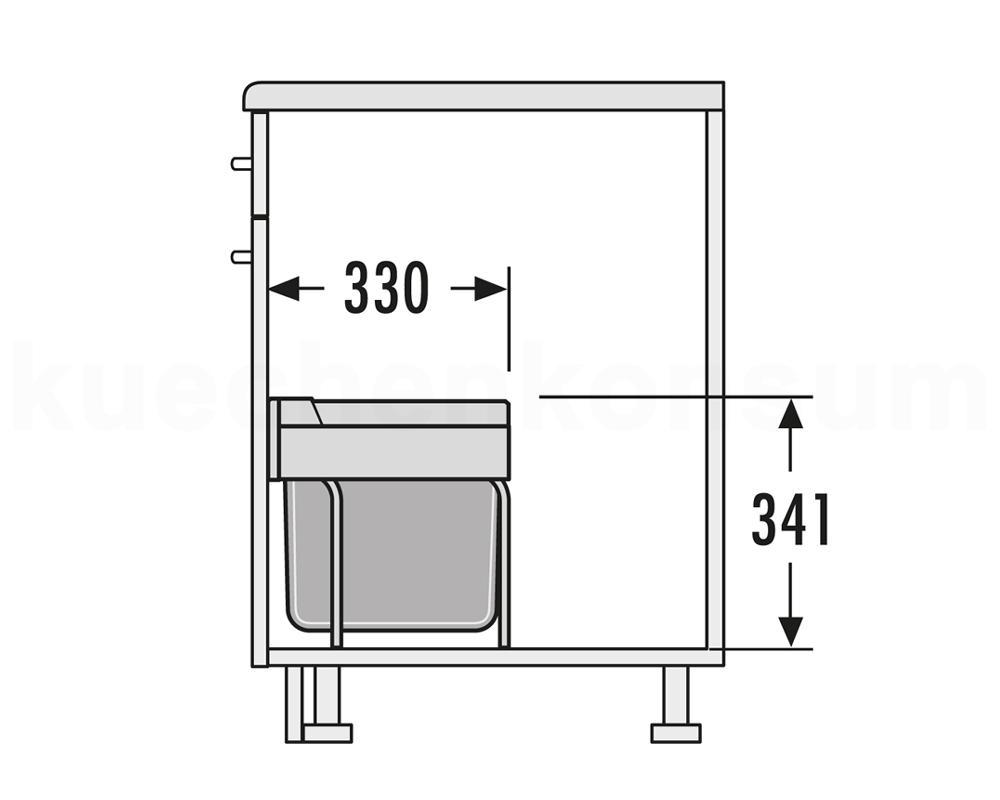 hailo abfallsammler raumspar tandem s m lleimer abfalleimer 3644 70 mistk bel ebay. Black Bedroom Furniture Sets. Home Design Ideas
