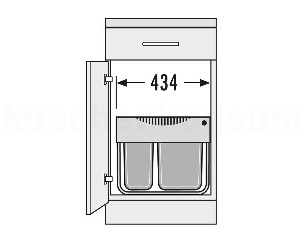 hailo abfallsammler raumspar tandem s m lleimer abfalleimer 3644 50 mistk bel. Black Bedroom Furniture Sets. Home Design Ideas