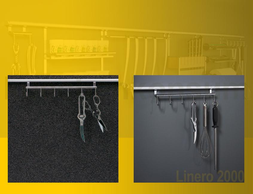6 fach hakenleiste linero 2000 edelstahl relinghaken k chenreling relingsystem ebay. Black Bedroom Furniture Sets. Home Design Ideas