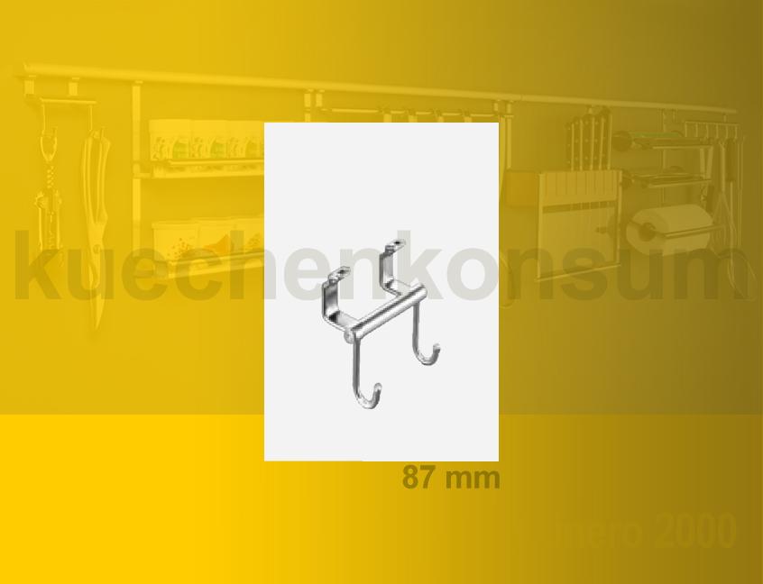 hakenleiste linero 2000 edelstahl relinghaken doppelhaken k chenreling edelstahl ebay. Black Bedroom Furniture Sets. Home Design Ideas