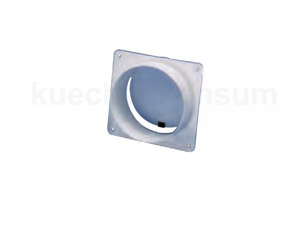 Maueranschluss-Stutzen rund / rund für 100er Rundrohr in weiß