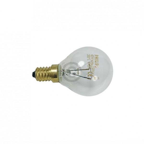 BSH-Gruppe Lampe E14 40W BOSCH 00057874 45 mm 76 mm 220/230V Kugelform Universal für Backofen Mikrow