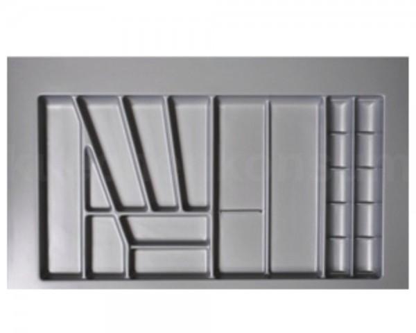 Besteckeinsatz Comfort für 100er Schublade 960 x 540 mm silbergrau