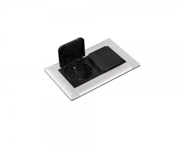 Schulte EVOline Frame Dock 80.022 Einbau Steckdose 2fach mit Klappdeckel