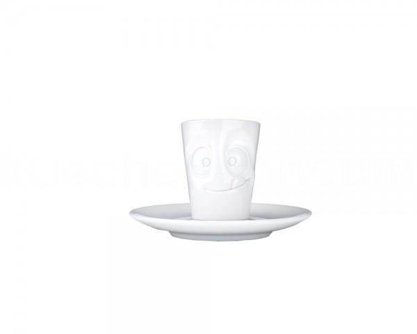 TV Tasse Espresso Mug 14 lecker weiß mit Henkel