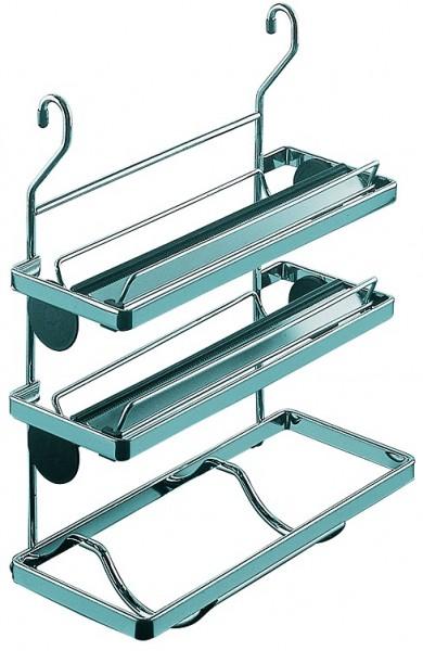 Linero Classic Reling Rollenhalter 3-etagig Anrisskante verchromt