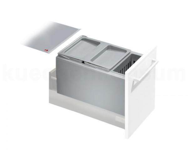 Hailo Abfallsammler 3630301 Inset Aufsatz XXL 2x 8,5 + 4,1 Liter