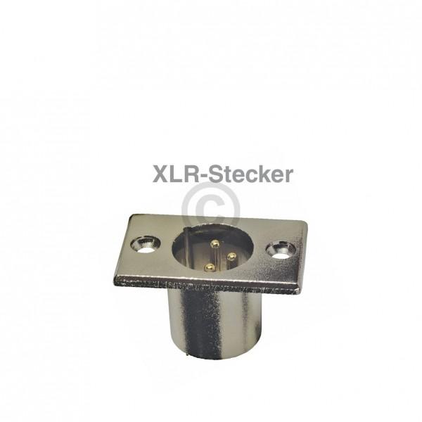 Europart XLR-Stecker 3polig Einbaustecker