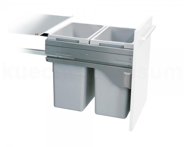 Hailo Abfallsammler 3619451 CE Slide Euro-Cargo 2x 35 Liter