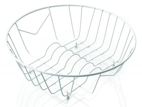 Rondostar Geschirrkorb 596339 mit Tellerhalter weiß rund 35,5 cm