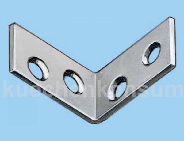 Montagewinkel Stuhlwinkel / Kistenwinkel 40x40 Stahl verzinkt 25 Stück