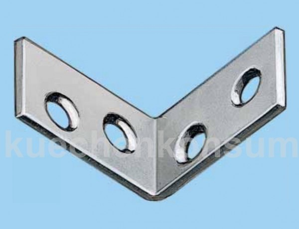 Montagewinkel 60x60 Stahl verzinkt 20 Stück
