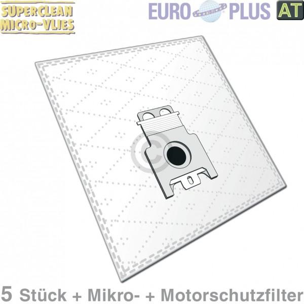 Europart Filterbeutel Europlus M309 Vlies u.a. für wie Miele Cat & Dog 5Stk mit Filtermatten für Sta