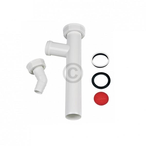 """Europart Verstellrohr 1 1/4""""x32mm mit Geräteanschluss weiß für Waschbeckensiphon"""