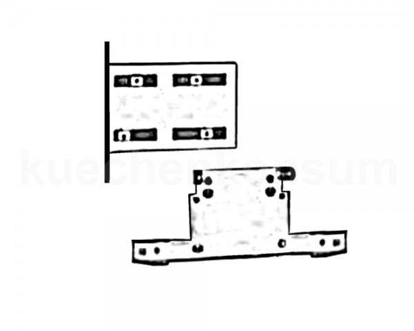 Wesco Adapter für die Runden Abfallsammler bei Schrank mit Mittelpfosten
