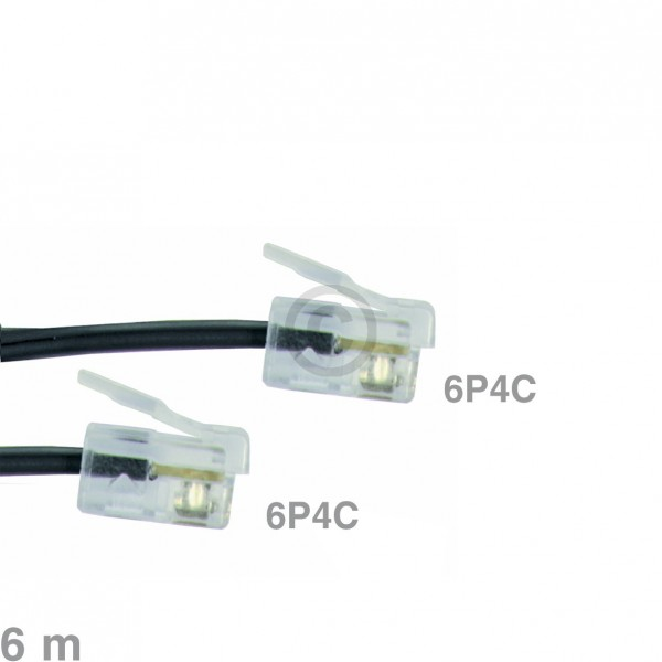 Europart Kabel Modular-Anschlusskabel 6P4C 6m