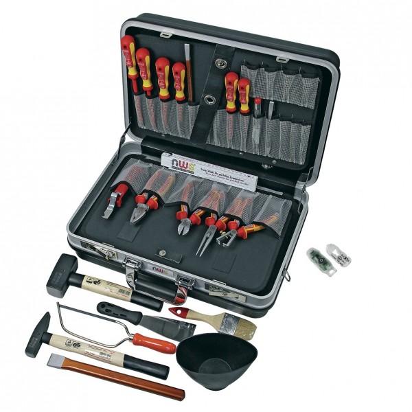 Europart Werkzeugkoffer NWS 321K-23 inklusive Werkzeug und E-Detektor NWS 819-4