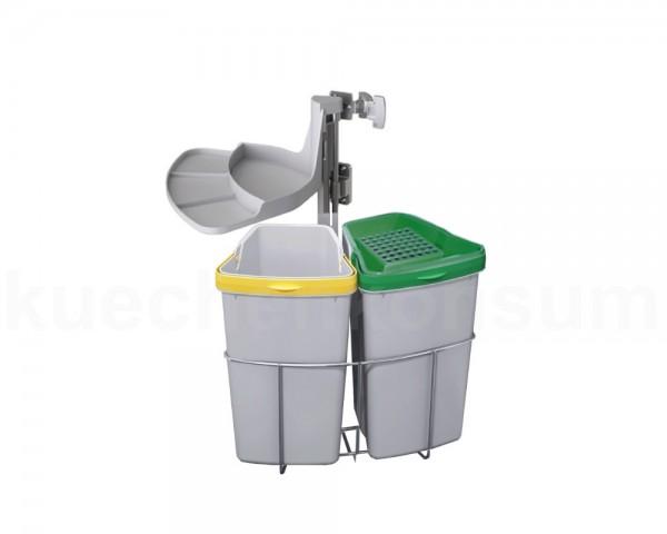Abfallcenter Nr. 2 Schwenkeimer 2x 9 Liter + Bio Aktivkohlefilter
