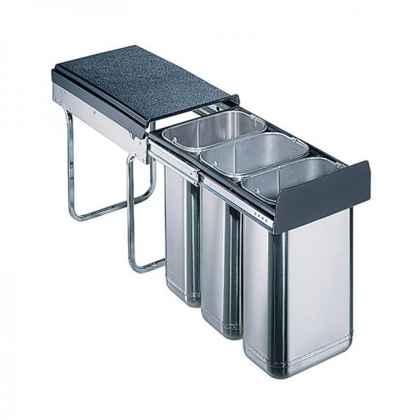 Wesco Edel Trio 30 DT 30 Liter Edelstahl 757614-42 Abfallsammler