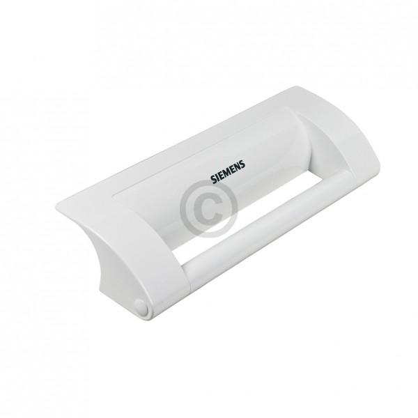 BSH-Gruppe Deckelgriff SIEMENS 00490995 bedruckt weiß für Gefriertruhe
