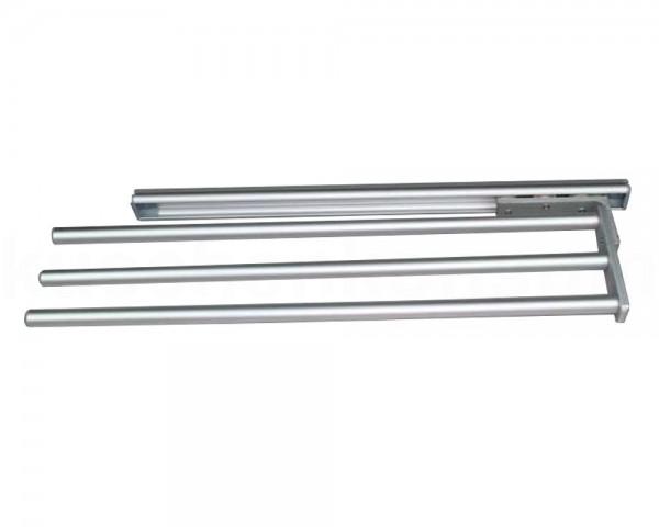 Handtuchhalter silber 3armig 465 x 110 ausziehbar