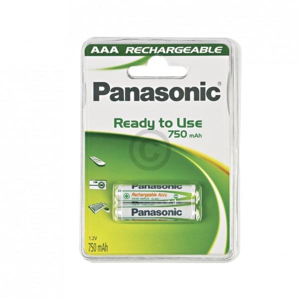Europart Akku Micro P03P Panasonic 750mAh, 2 Stück