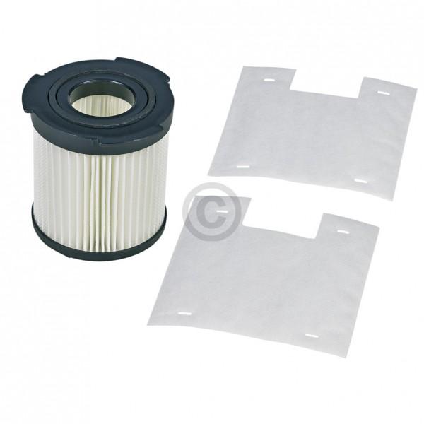 Electrolux Abluftfilterzylinder AEG 900196614/3 Lamellenfilter mit 2 Mikrofiltern für Staubsauger