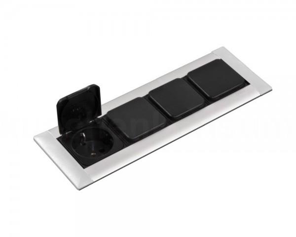 Schulte EVOline Frame Dock 80.024 Einbau Steckdose 4fach mit Klappdeckel
