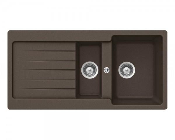 Schock Granitspüle Typos D-150 MOCHA Becken mit Ablage 1000 x 500 mm