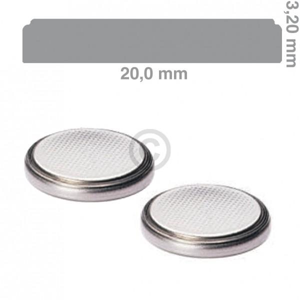 Panasonic Knopfzelle CR2032 Lithium 2 Stück