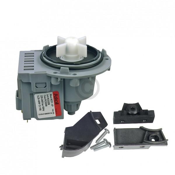 Europart Ablaufpumpe universal Pumpenmotor Askoll mit Schraubenbefestigung mit Bügeln für Waschmasch